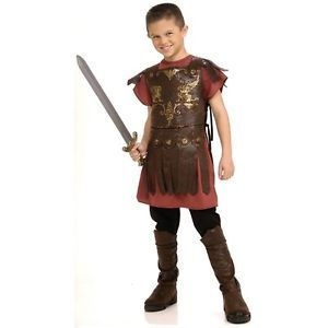 Roman Gladiator Costume for Kids Warrior Spatacus Maximus Halloween Fancy Dress