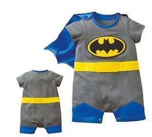 ed051efd5d7f8 ... Baby Boy Kid Superman Batman Costume Romper Onesie Outfit Superhero  Fancy Dress ...