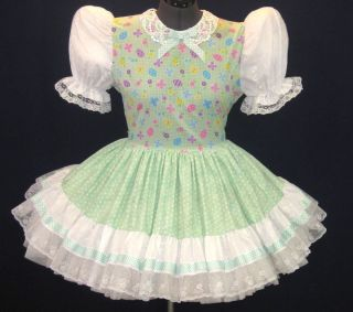 Pretty Lacy Mint Adult Baby Sissy Dress Leanne