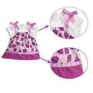 Doll Clothes for 18'' American Girl Bitty Baby Berry Outfit Only Top Retired
