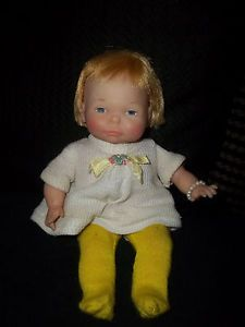Vintage Ideal 1967 Newborn Thumbelina Baby Doll Works Great Must See