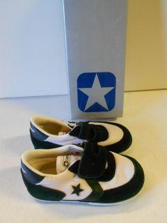 644c2d2b205 Vtg  80 s Converse Genesis Infant s Sneakers Shoes Size 7 Black White RARE