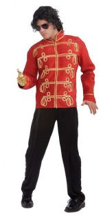 Michael Jackson Thriller 80s Red Military Prince Jacket Adult Mens Costume Icon