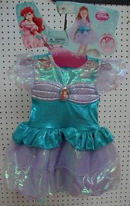 Disney Ariel Little Mermaid Princess Toddler Girls' Costume 3T 4T NWT
