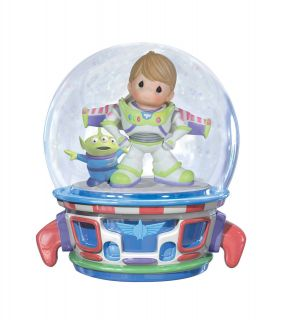 Precious Moments Disney Toy Story Buzz Lightyear Music Box Water Globe Snow Dome
