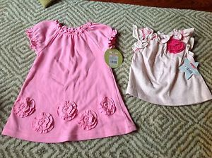 Circo and Isabelle Max Baby Girl Clothes Dress and A Shirt Pinks