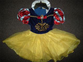 NWT Disney Classics Snow White Halloween Costume Toddler Youth Girls Large 4 6X