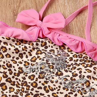 Girl Baby Tankini Swimsuit Bikini Swimwear 2 7Y Leopard Swimming Costume Holiday