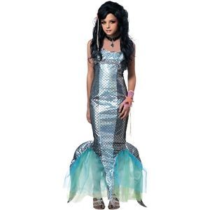 Pearl Swirl Mermaid Strangeling Preteen Tween Child Gothic Halloween Costume