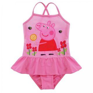 Girls One Piece Peppa Pig Kids Swimsuit Swimwear Bathers Beachwear Bathing Sz 3