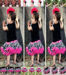 Baby Girls Zebra Print Princess Child Ballet Dance Costume Tutu Dress Skirt Sale