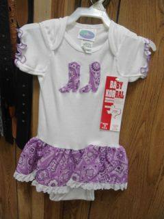 Baby Girl Western Cowgirl Halloween Outfit Size 24 Months