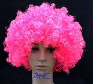 New Afro Curl Curly Clown Football Party 60s 70s 80s Disco Wig Hair Colors