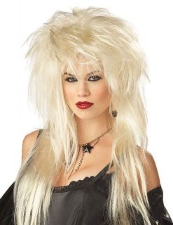 Glam Rocker Wig Blonde Kelly Bundy Big Hair Metal 80s 90s Girl Costume