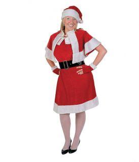 Mrs Santa Claus Clause Dress Plus Size Suit Adult Costume 5 PC Christmas