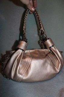 Cromia Gorgeous Gold Leather Purse Bag Made in Italy