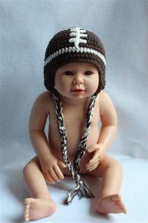 Cute Cotton Handmade Baby Child Brown Football Hat Photograph Newborn to 3 Year