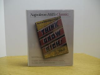 Think and Grow Rich Napoleon Hill 8 Cassettes Hardback Book Study Guide