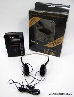 Aiwa HS T50 FM Am Wide Auto Reverse Portable Stereo Cassette Player w HP M16