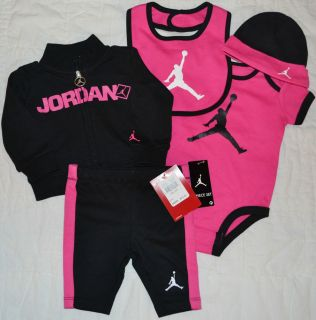 sports shoes 9072d cb396 Nike Jordan Baby Girl 5 PC Outfit Size 3 6M 6 9M or 9 12M
