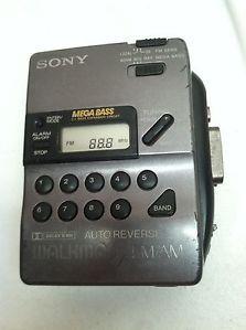 Vintage Sony Walkman Radio Cassette Tape Player WM FX43 Auto Reverse