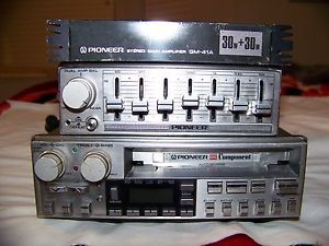 Vintage Pioneer KEX 73 Car Stereo Cassette with GM 41A Amp Equalizer CD 5 Tested