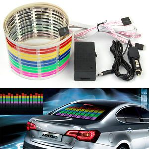 Car Back Windshield Music Rhythm Sound Activated Equalizer Lamp LED Light