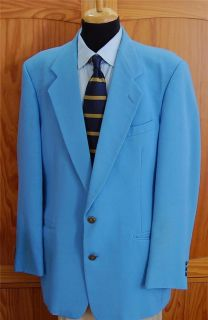 Vintage Pierre Cardin Baby Blue Blazer Sport Coat Jacket 44L