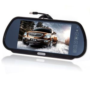 """7"""" Wide Screen TFT LCD Car Rear View Backup Parking Mirror Monitor for DVD VCR"""