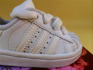 2008 Adidas Originals Superstar II 2 Infant Boys Casual Leather Shoes 2c White