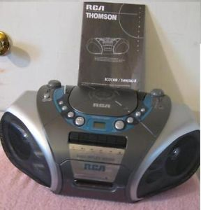 """RCA RCD130B Am FM CD Cassette Portable Stereo Player """"Record Cassette to CD """""""
