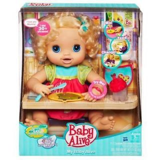 Baby Alive My Baby Alive Doll Blonde Hair Food Bottle