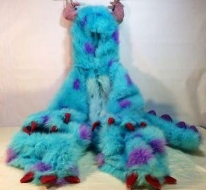 Genuine Disney Monsters Inc Plush Sulley Sully Halloween Costume Child Sz 4 5 6