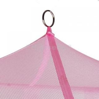Elegant Pink Mosquito Bug Net Tent Canopy for Baby Toddler Bed Crib Playpens