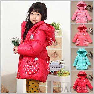 Hot Sale Children Baby Girls Clothing New Down Jacket Winter Coat Princess