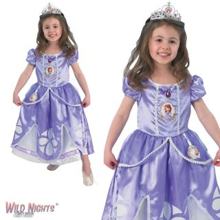 Fancy Dress Costume Girls Disney Princess Deluxe Sofia Sophia Age 2 6 Years