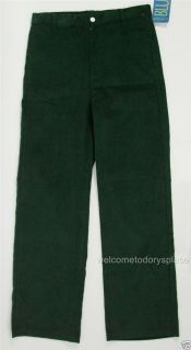 Cotton Blu by Vive La Fete Boys Flat Front Corduroy Cords Pants Green 16 New