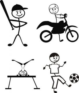Vinyl Cutter Clipart Stick People Figures Sports