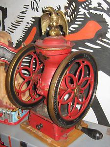 Antique RARE Enterprise 2 Wheel Coffee Grinder with Original Paint