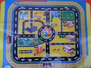 Giant City Playmat Map Wipe Clean 92 x 76cm for Toy Cars Kids Toy Play Mat