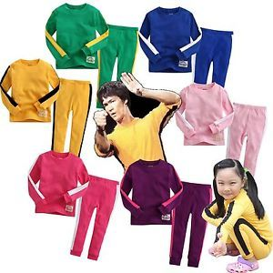 """Baby Toddler Kids Girl Boy Clothes Tracksuit Training Sportswear """"Bruce Lee"""""""
