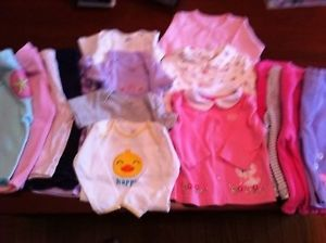 16 Piece Lot Baby Girl Clothes 6 9 Month Pants Tops Gymboree Carters Place
