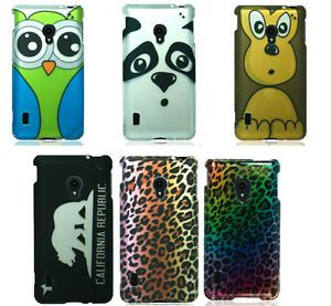 For LG Lucid 2 Animal Print Cartoon Design Hard Snap on Cover Case Accessory