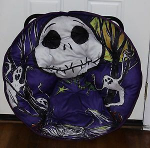 Nightmare Before Christmas Jack Skellington Mushroom Saucer Chair Hot Topic VHTF