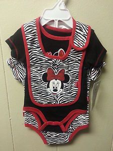 Baby Girl Disney Minnie Mouse 3 Piece Outfit Set Clothes