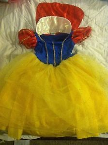 Disney Snow White Costume Dress Up Dress One Size Fits All 6