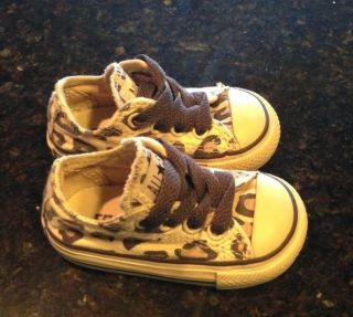 18f3d15d72f6 Converse All Star Cheetah Baby Girl Infant Fashion Style Size 3 ...