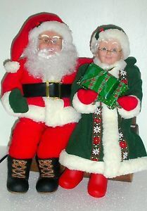 Christmas Animated Mr Mrs Claus Santa Mrs Claus Animated Figures Setting Chair