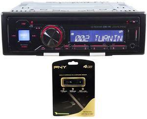 Alpine CDE 141 CD  Player Am FM Car Stereo Receiver PNY 4GB USB Drive