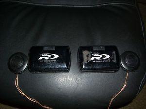 "Alpine Type R 1"" Silk Ring Dome Tweeter Set Car Speaker with Crossover"